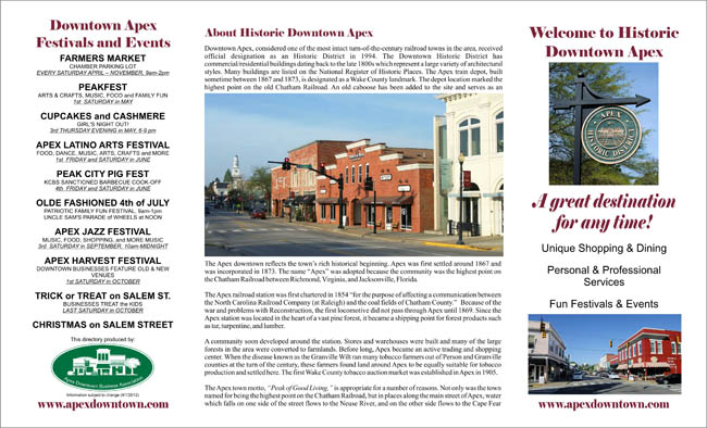 Historic Downtown Apex Brochure